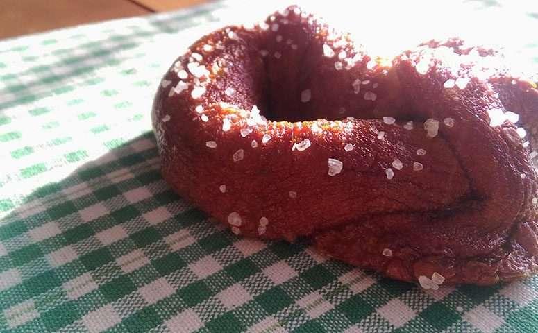 Homemade Pretzel made with lye