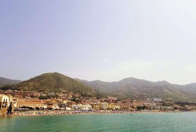 a view of the cefalu beach