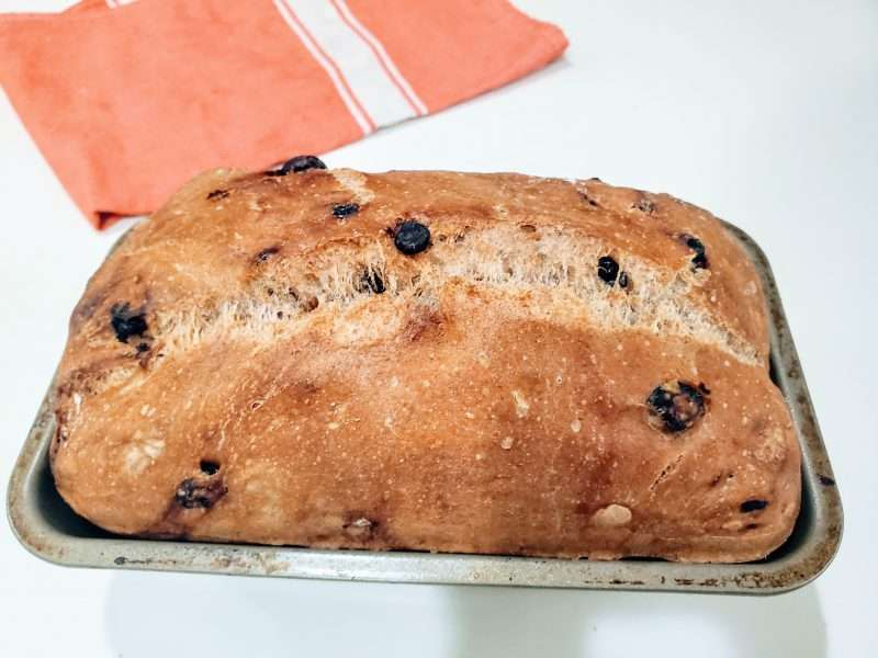 Easy No Knead Cinnamon Swirl Raisin Bread