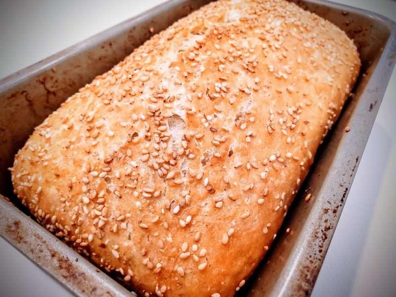 Simple, No Knead Italian Semolina Bread