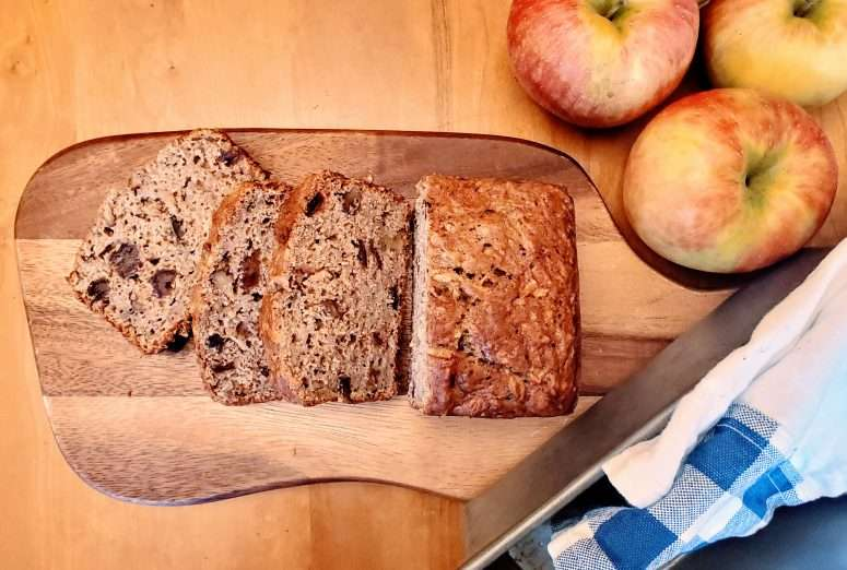 Fall Apple Walnut Quick Bread